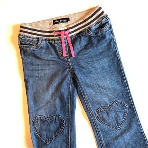 11Y Mini Boden Heart Knees/Pockets Jeans